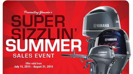Yamaha Marine Super Sizzlin' Summer Sales Event!