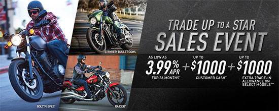 Yamaha Motor Corp., USA Trade Up To A Star Sales Event - Star!