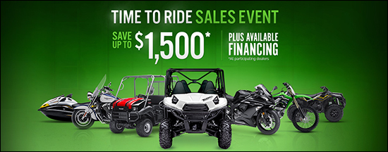 Time To Ride Sales Event - Save Up To $1,500* Plus Available Financing (*at participating dealers)!