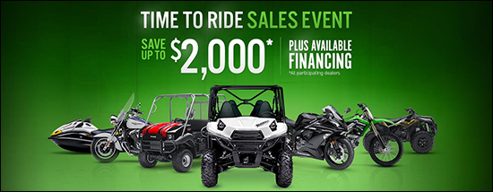 Time To Ride Sales Event - Save Up To $2,000* Plus Available Financing (*at participating dealers)!