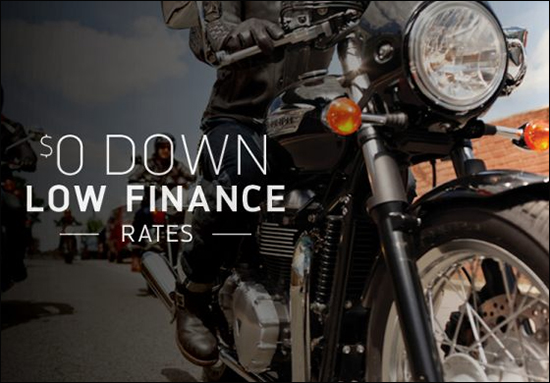 Triumph Everyday Financing with FreedomRoad Financial!