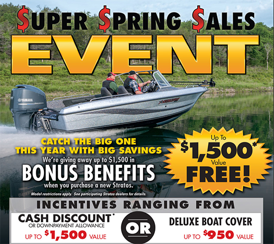 Stratos Super Spring Sales Event - Up to $1,500* Value Free!