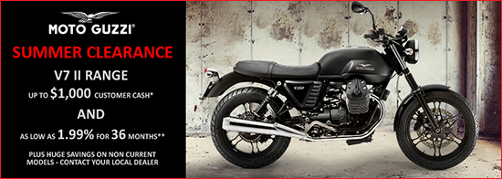 Moto Guzzi 2016 Summer Clearance Event!