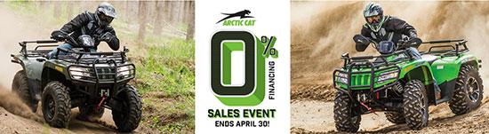 Arctic Cat Zero Percent Sales Event!
