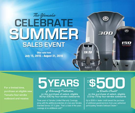 Yamaha Marine Celebrate Summer Sales Event!