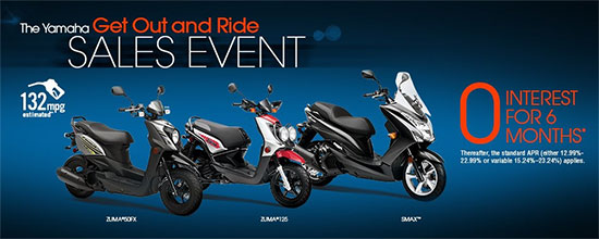 Yamaha Motor Corp., USA The Yamaha Get Out and Ride Sales Event!