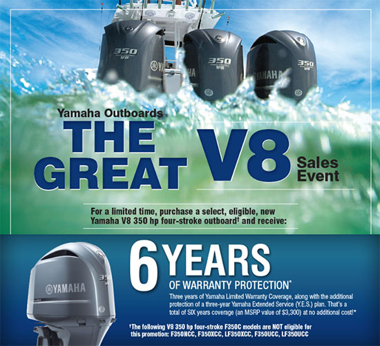 Yamaha Marine The Great V8 Sales Event!