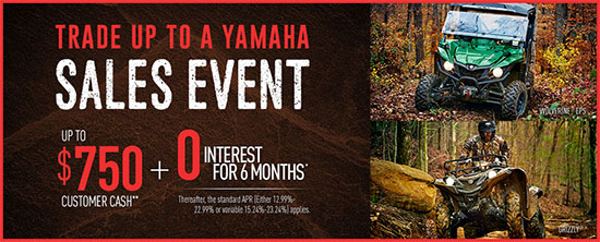 Yamaha Motor Corp., USA Trade Up to A Yamaha Sales Event - Utility!