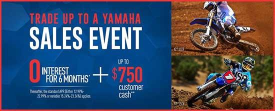 Yamaha Motor Corp., USA Trade Up To A Yamaha Sales Event - Off Road!