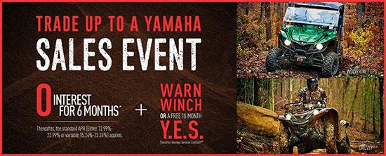 Yamaha Motor Corp., USA Trade Up To A Yamaha Sales Event - Sport!