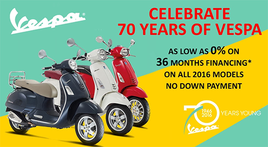 Celebrate 70 Years of Vespa!