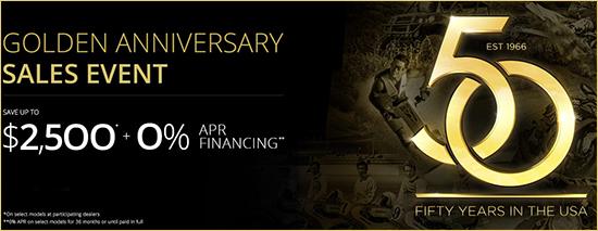 Kawasaki Golden Anniversary Sales Event!