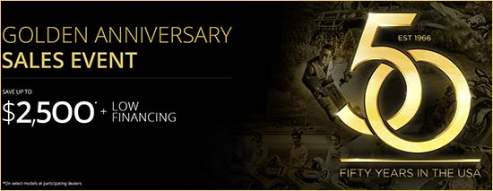 Kawasaki Golden Anniversary Sales Event!