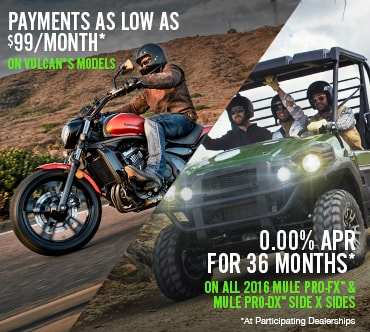 Kawasaki Mule PRO-FX™ and Mule PRO-DX™ Offer!