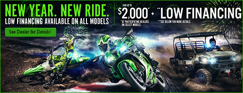 Kawasaki New Year. New Ride. Low Financing Available On All Models!