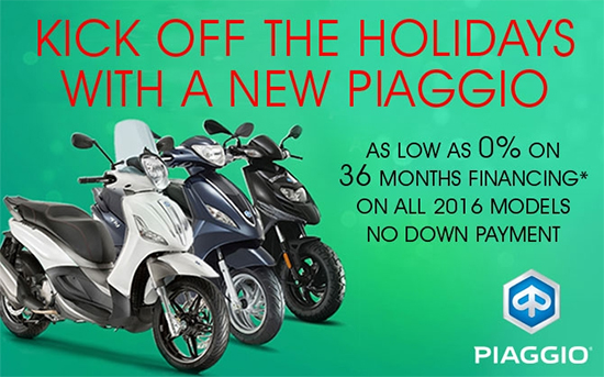 Kick Off the Holidays with a New Piaggio!