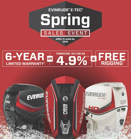 Evinrude Spring Sales Event!