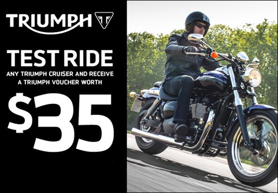 Triumph Cruiser Test Ride Program!