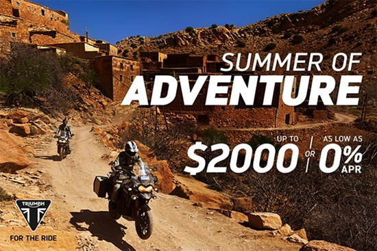 Triumph Summer of Adventure!