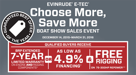 Evinrude Choose More, Save More Boat Show Sales Event - Repower!
