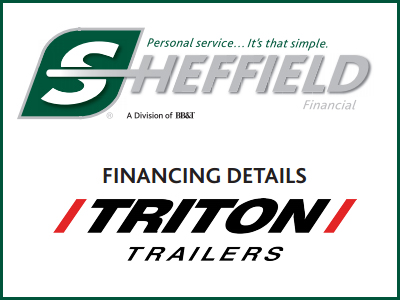 Triton Trailers Sheffield Financing Details!